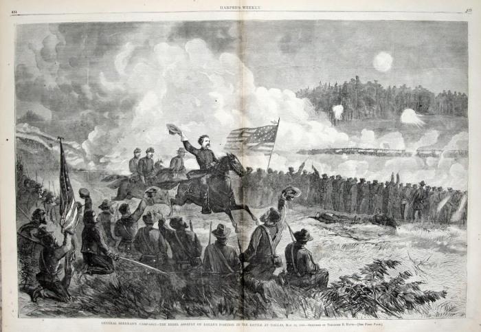 General_Logan_at_the_Battle_of_Dallas,_May_1864